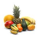 Exotic fruits still life
