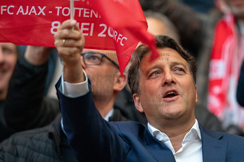08-05-2019 NED: Semi Final Champions League AFC Ajax - Tottenham Hotspur, Amsterdam<br /> After a dramatic ending, Ajax has not been able to reach the final of the Champions League. In the final second Tottenham Hotspur scored 3-2 / Ajax VIP support