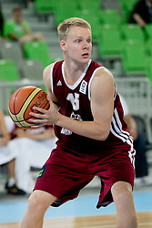 Arturs Bremers of Latvia during basketball match between National teams of Serbia and Latvia in Quarterfinal Match of U20 Men European Championship Slovenia 2012, on July 20, 2012 in SRC Stozice, Ljubljana, Slovenia. (Photo by Matic Klansek Velej / Sportida.com)