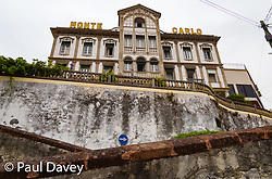 The faded facade of the Monte Carlo Hotel in Funchal, Madeira. MADEIRA, September 25 2018. © Paul Davey