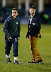 Bath Head Coach Mike Ford (R) looks on as one of his sons walks past - Photo mandatory by-line: Rogan Thomson/JMP - 07966 386802 - 12/12/2014 - SPORT - RUGBY UNION - Bath, England - The Recreation Ground - Bath Rugby v Montpellier Herault Rugby - European Rugby Champions Cup Pool 4.
