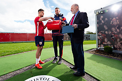 Bailey Wright draws the winning number with Chris Stonier and Jacob Tovey - Ryan Hiscott/JMP - 25/04/2019 - PR - Failand - Bristol, England - Bristol City End of Season Awards