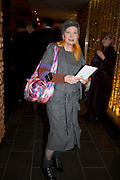 VIVIENNE WESTWOOD, Launch of Nicky Haslam's book Redeeming Features. Aqua Nueva. 5th floor. 240 Regent St. London W1.  5 November 2009.  *** Local Caption *** -DO NOT ARCHIVE-© Copyright Photograph by Dafydd Jones. 248 Clapham Rd. London SW9 0PZ. Tel 0207 820 0771. www.dafjones.com.<br /> VIVIENNE WESTWOOD, Launch of Nicky Haslam's book Redeeming Features. Aqua Nueva. 5th floor. 240 Regent St. London W1.  5 November 2009.