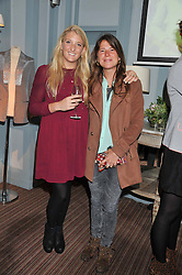 Left to right, ANTONIA TWISTON-DAVIES and RA D'ARCY CLARK at a evening with fashion label Lilah held at Quo Vadis, 26-29 Dean Street, London W1 on 29th May 2013.