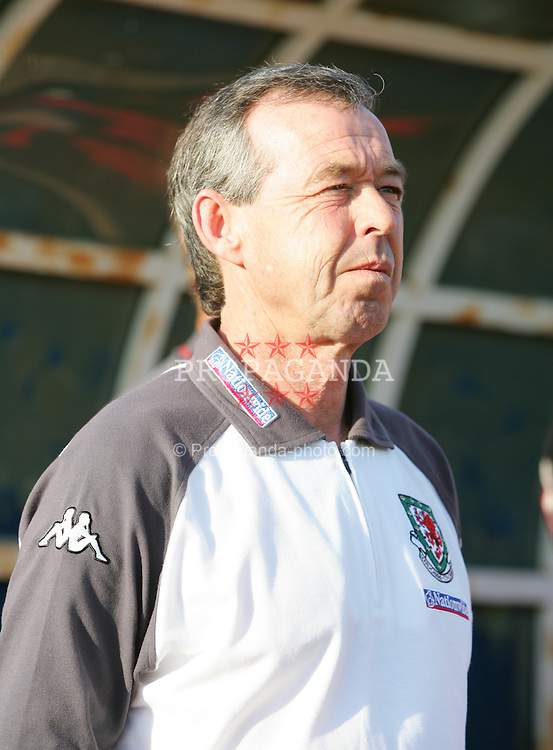 PAPHOS, CYPRUS - TUESDAY, NOVEMBER 15th, 2005: Wales' Under-21 coach Brian Flynn during the Under-21 International Friendly match at the Paphiako Stadium. (Pic by David Rawcliffe/Propaganda)