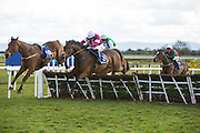 "Horse Racing - Fairyhouse Easter Festival, Monday 28th March 2016<br /> Jack Kennedy on Just Cause clears the last and goes on to win the ""Fleet Connect Handicap Hurdle""<br /> Photo: David Mullen /www.cyberimages.net / 2016"