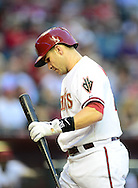 May. 7, 2012; Phoenix, AZ, USA; Arizona Diamondbacks catcher Miguel Montero (26) during the game against the St. Louis Cardinals at Chase Field.  The Cardinals defeated the Diamondbacks 9-6. Mandatory Credit: Jennifer Stewart-US PRESSWIRE