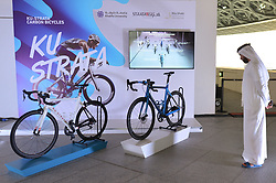 February 23, 2019 - Abu Dhabi, United Arab Emirates - Ku-Strara Carbon Bicycles stand inside the Louvre Abu Dhabi Museum..On Saturday, February 23, 2019, Abu Dhabi, United Arab Emirates. (Credit Image: © Artur Widak/NurPhoto via ZUMA Press)