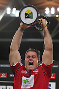 Queensland Reds captain James Horwill  following the Reds victory in the Super Rugby Final at Suncorp Stadium in Brisbane,  July 9, 2011.  Photo: Patrick Hamilton/Photosport