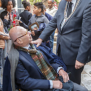 NLD/Amsterdam/20160515 - Nationaal Holocaust museum opent met schilderijen Jeroen Krabbé, oud burgermeester Ed van Thijn en Eberhard van der Laan