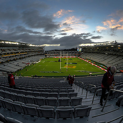 Fans arrive for the 2017 DHL Lions Series rugby union match between the NZ All Blacks and British & Irish Lions at Eden Park in Auckland, New Zealand on Saturday, 24 June 2017. Photo: Dave Lintott / lintottphoto.co.nz