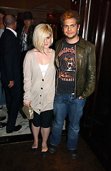 KELLY OSBOURNE and JACK OSBOURNE at a party to celebrate the opening of The Bar at The Dorchester, Park Lane, London on 27th June 2006.<br />