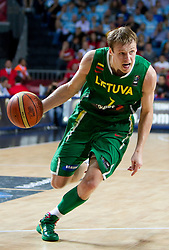 Martynas Pocius of Lithuania during the first semifinal basketball match between National teams of USA and Lithuania at 2010 FIBA World Championships on September 11, 2010 at the Sinan Erdem Dome in Istanbul, Turkey.   (Photo By Vid Ponikvar / Sportida.com)
