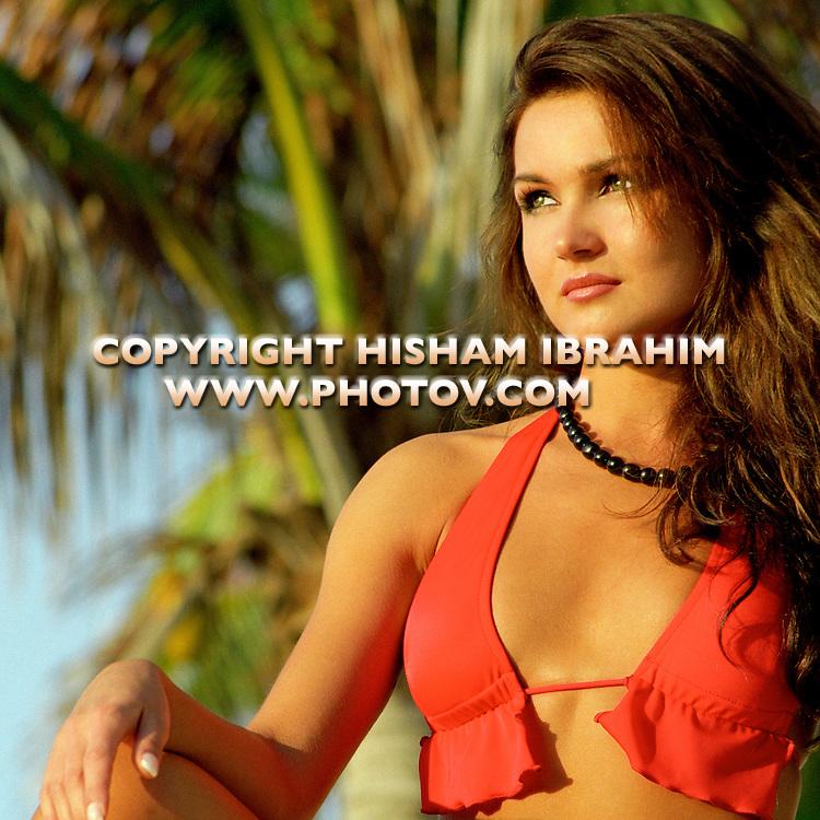 Sexy young Russian woman in Red bikini, Cabo San Lucas, Mexico