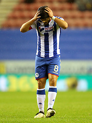 Sam Morsy of Wigan Athletic looks dejected - Mandatory by-line: Matt McNulty/JMP - 03/02/2017 - FOOTBALL - DW Stadium - Wigan, England - Wigan Athletic v Sheffield Wednesday - Sky Bet Championship