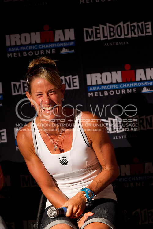 Belinda Granger. Ironman Asia-Pacific Championship Melbourne. Official Launch. 2012 Ironman Triathlon World Championship. Encore Restaurant, St Kilda, Melbourne, Victoria, Australia. 17/02/2012. Photo By Lucas Wroe
