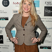 Meredith Ostrom Arrivers at Nina Naustdal catwalk show SS19/20 collection by The London School of Beauty & Make-up at Bagatelle on 26 Feb 2019, London, UK.