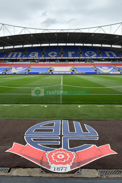"""General view inside the Macron Stadium before the pre-season match at the Macron Stadium, Bolton. PRESS ASSOCIATION Photo. Picture date: Saturday July 29, 2017. See PA story SOCCER Bolton. Photo credit should read: Anthony Devlin/PA Wire. RESTRICTIONS: EDITORIAL USE ONLY No use with unauthorised audio, video, data, fixture lists, club/league logos or """"live"""" services. Online in-match use limited to 75 images, no video emulation. No use in betting, games or single club/league/player publications."""