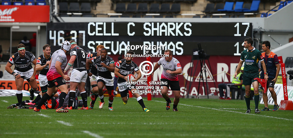 DURBAN, SOUTH AFRICA - SEPTEMBER 05: Cobus Reinach of the Cell C Sharks during the Absa Currie Cup match between Cell C Sharks and Steval Pumas at Growthpoint Kings Park on September 05, 2015 in Durban, South Africa. (Photo by Steve Haag/Gallo Images)