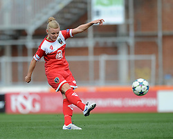 Bristol Academy's Sophie Ingle takes a shot at goal. - Photo mandatory by-line: Dougie Allward/JMP - Mobile: 07966 386802 - 21/03/2015 - SPORT - Football - Bristol - Ashton Gate Stadium - Bristol Academy v FFC Frankfurt - UEFA Women's Champions League - Quarter Final - First Leg