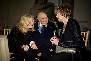 LADY WEIDENFELD; LORD WEIDENFELD; EDNA O'BRIEN, Orion Publishing Group Author Party. V & A. London. 18 February 2009.  *** Local Caption *** -DO NOT ARCHIVE -Copyright Photograph by Dafydd Jones. 248 Clapham Rd. London SW9 0PZ. Tel 0207 820 0771. www.dafjones.com<br /> LADY WEIDENFELD; LORD WEIDENFELD; EDNA O'BRIEN, Orion Publishing Group Author Party. V & A. London. 18 February 2009.