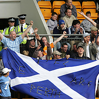 St Johnstone v Raith Rovers...28.08.04<br />St Johnstone fans happy for once!<br /><br />Picture by Graeme Hart.<br />Copyright Perthshire Picture Agency<br />Tel: 01738 623350  Mobile: 07990 594431