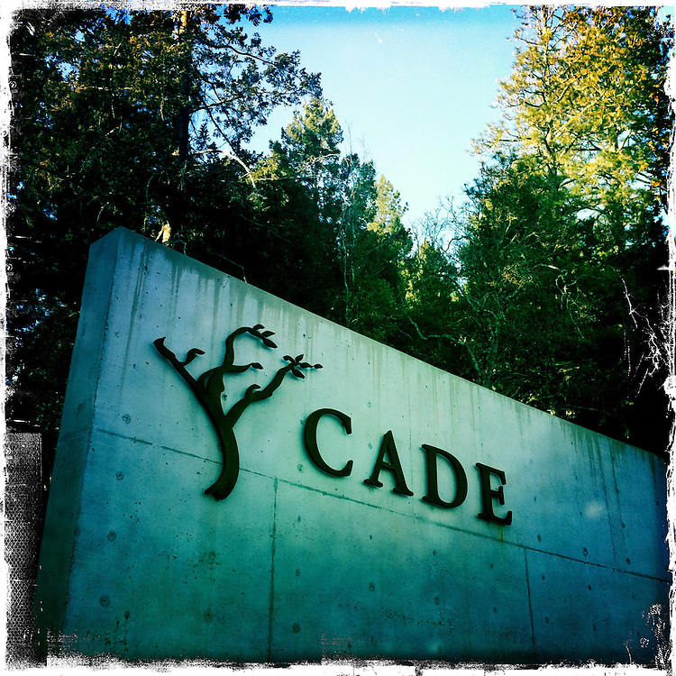 25 February 2012: Cade winery in Howell Mountain, Napa, California.  iPhone Stock Photo