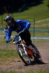 Andrea Gamenara (ITA) of Junior Men category at MTB Downhill European Championships, on June 14, 2009, at Kranjska Gora, Slovenia. (Photo by Vid Ponikvar / Sportida)