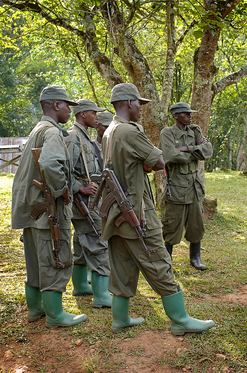 Early in the Expedition we were introduced to the term, Para Military Eco Tourism.  We were told that the machine guns were to protect us from the wildlife.  Yet there was great sensitivity to the polical troubles from the North and West w/Congo.