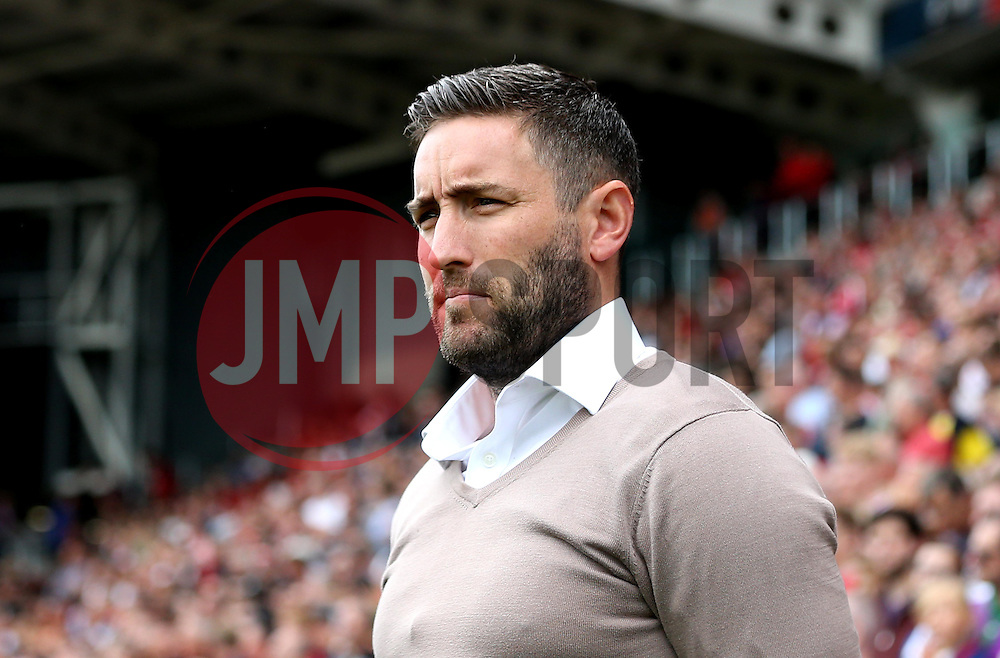 Bristol City head coach Lee Johnson - Mandatory by-line: Robbie Stephenson/JMP - 17/09/2016 - FOOTBALL - Ashton Gate Stadium - Bristol, England - Bristol City v Derby County - Sky Bet Championship