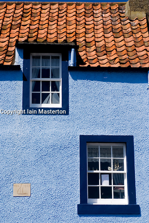 Detail of colorful traditional fisherman`s house in village of St Monan`s in the East Neuk of Fife in Scotland