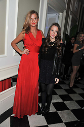 Left to right, MILLIE MACKINTOSH and ROSIE FORTESCUE from TV's Made in Chelsea at a reception hosted by Beulah London and the United Nations to launch Beulah London's AW'11 Collection 'Clothed in Love' and the Beulah Blue Heart Campaign held at Dorsia, 3 Cromwell Road, London SW7 on 18th October 2011.