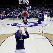 STORRS, CONNECTICUT- NOVEMBER 17: Crystal Dangerfield #5 of the UConn Huskies warming up with teammates before the UConn Huskies Vs Baylor Bears NCAA Women's Basketball game at Gampel Pavilion, on November 17th, 2016 in Storrs, Connecticut. (Photo by Tim Clayton/Corbis via Getty Images)