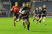Dougie Fife scores try during the Guinness Pro 14 2018_19 match between Edinburgh Rugby and Southern Kings at BT Murrayfield Stadium, Edinburgh, Scotland on 5 January 2019.