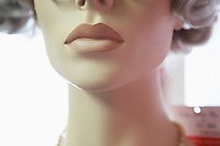 Mouth and Chin of Mannequin