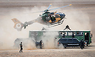 Jordanian Army Special Operations forces hold anti-terrorist field training exercise simulating a hostage situation aboard a public bus.  (Photo by Alan Lessig/Defense News)
