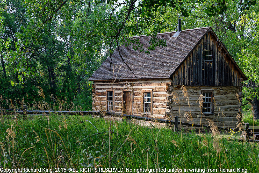Photographs of Roosevelt Log Cabin in SD