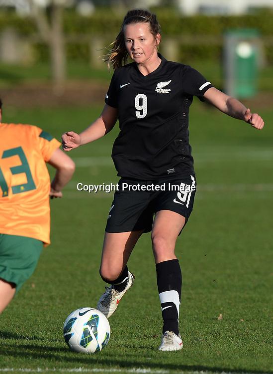 Emily Jensen. Junior Football Ferns v Young Matildas. Kristin School, Albany. Thursday 25 July 2013. Photo: Andrew Cornaga/Photosport.co.nz
