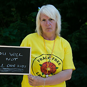 Cath Robinson. 13 anti-fracking activists, climate protectors, the day before doing a joint lock-on outside Quadrilla's drill site in New Preston Road, Lancashire. The campaign against the drilling for shale gas has been going for years and since January 2017 many have taken to block the gates to deny Quadrilla being able to drill. Fracking was rejected by Lancashire County council in 2015 but were overruled by central Conservative government and locals are fighting to stop the drilling and reverse the decision.