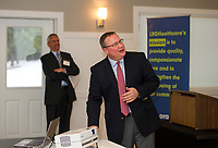 Kevin Donovan's presents the management report during the annual meeting for LRGHealthcare at Laconia Country Club on Wednesday evening.   (Karen Bobotas/for the Laconia Daily Sun)