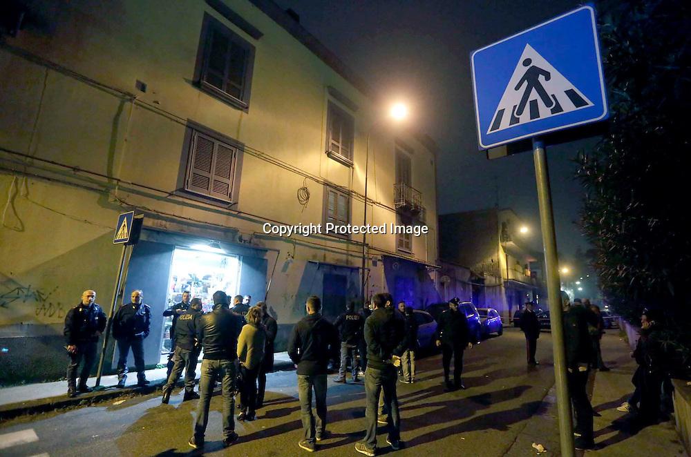 Napoli 09 Dicembre 2015<br /> Omicidio di Vincenzo di Napoli in via Miano a Piscinola<br /> Ph: Stefano Renna