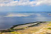 Nederland, Zeeland, Oosterschelde, 09-05-2013; inlagen ten zuiden van Serooskerke. Landinwaarts zijn polders onder water gezet in het kader van Plan Tuureluur. Oosterschelde in de achtergrond.<br /> <br /> QQQ<br /> luchtfoto (toeslag op standard tarieven);<br /> aerial photo (additional fee required);<br /> copyright foto/photo Siebe Swart.