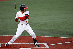 21 April 2015:  Dennis Colon during an NCAA Inter-Division Baseball game between the Illinois Wesleyan Titans and the Illinois State Redbirds in Duffy Bass Field, Normal IL