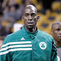 06 March 2012: Boston Celtics power forward Kevin Garnett (5) warms up prior to the Boston Celtics 97-92 (OT) victory over the Houston Rockets at the TD Garden, Boston, Massachusetts, USA.