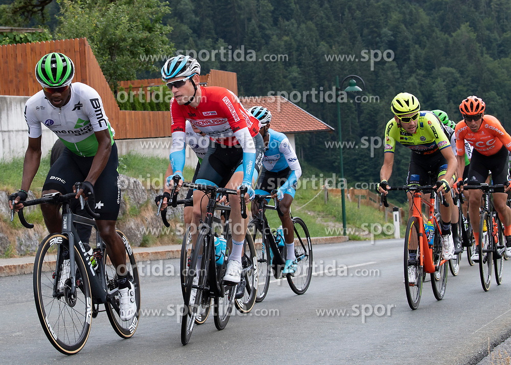 12.07.2019, Kitzbühel, AUT, Ö-Tour, Österreich Radrundfahrt, 6. Etappe, von Kitzbühel nach Kitzbüheler Horn (116,7 km), im Bild Ben Hermans (BEL, Israel Cycling Academy) im roten Flyeralarm Trikot des Gesamtführenden der Österreich Rundfahrt // Ben Hermans of Belgium Team Israel Cycling Academy in the red Flyeralarm overall leaders jersey during 6th stage from Kitzbühel to Kitzbüheler Horn (116,7 km) of the 2019 Tour of Austria. Kitzbühel, Austria on 2019/07/12. EXPA Pictures © 2019, PhotoCredit: EXPA/ Reinhard Eisenbauer