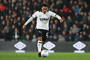 Derby County midfielder Duane Holmes on the ball during the EFL Sky Bet Championship match between Derby County and Wigan Athletic at the Pride Park, Derby, England on 5 March 2019.