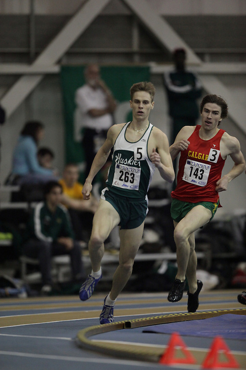 Windsor, Ontario ---12/03/09--- Iain McCormick of  the University of Saskatchewan competes in the 600 metre prelims at the CIS track and field championships in Windsor, Ontario, March 12, 2009..GEOFF ROBINS Mundo Sport Images