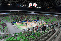 Opening ceremony before basketball match between KK Union Olimpija and KK Krka in 4nd Final match of Telemach Slovenian Champion League 2011/12, on May 24, 2012 in Arena Stozice, Ljubljana, Slovenia.  (Photo by Grega Valancic / Sportida.com)