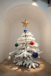 Philippe Parreno. <br /> Fraught Times: For Eleven Months of the Year it's an Artwork and in December it's Christmas (October), 2009<br />  Cast aluminium,paint, musical score. <br /> 272 x 205 cm<br /> Courtesy  Maja Hoffmann