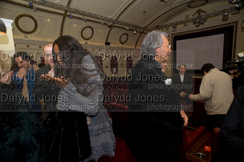 NAOMI CAMPBELL; DAVID TANG; , David Tang and Nick Broomfield host  a reception and screening of Ghosts. On the Fifth anniversary of the Morecambe Bay Tragedy to  benefit the Morecambe Bay Children's Fund. The Electric Cinema. Portobello Rd. London W11. 5 February 2009 *** Local Caption *** -DO NOT ARCHIVE -Copyright Photograph by Dafydd Jones. 248 Clapham Rd. London SW9 0PZ. Tel 0207 820 0771. www.dafjones.com<br /> NAOMI CAMPBELL; DAVID TANG; , David Tang and Nick Broomfield host  a reception and screening of Ghosts. On the Fifth anniversary of the Morecambe Bay Tragedy to  benefit the Morecambe Bay Children's Fund. The Electric Cinema. Portobello Rd. London W11. 5 February 2009